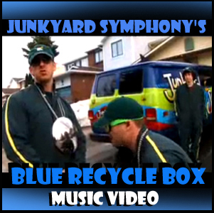 Junkyard Symphonys' Blue Recycle Box Music Video.