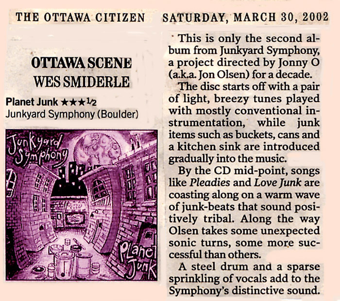 CD review in Ottawa Citizen