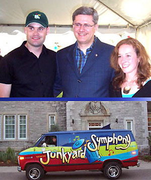 Junkyard Symphony at the PM's house.