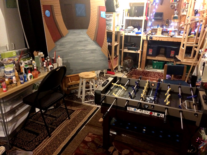 Junkyard Symphony's Groovy Games Gallery, The Work Room